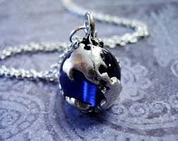 sapphire chain necklace images Globe necklace etsy jpg