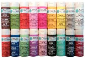 martha stewart crafts multi surface satin acrylic craft paint set