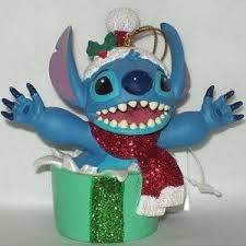 disney stitch present ornament