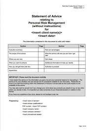 soa template personal risk management strategi group