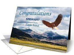cards for eagle scout congratulations stewart congratulations eagle scout custom name card by norma