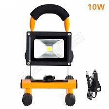 battery powered emergency lights for vehicles 1pcs 10w led flood lighting rechargeable led emergency l portable