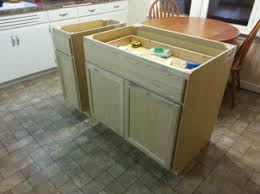 build a kitchen island diy kitchen island from stock cabinets home ideas