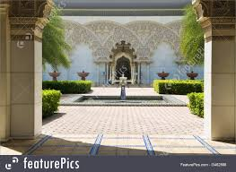 moroccan architecture inner garden picture