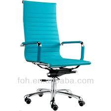 light blue desk chair blue leather high back office chair slope leather office chair
