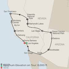 Cambria Map California Escorted Vacation Packages Tours Globus