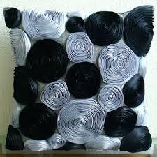 Black Sofa Pillows by Handmade Black Throw Pillows Cover 16x16 Silk