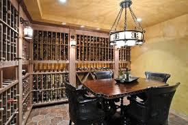 Wine Cellar Chandelier Mediterranean Wine Cellar With Chandelier By Tashtchian