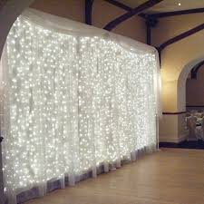 Christmas Window Decorations Amazon by New 300led Window Curtain Icicle Lights String Fairy Light Wedding