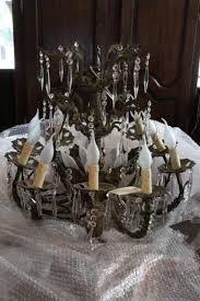 Brass Antique Chandelier John Stephens French Brass Antique Chandelier With Frosted Lights