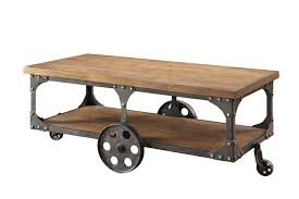 Rustic Metal And Wood Coffee Table Coaster 701128 Rustic Decker Wagon Brown Finish Wood And