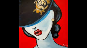 pop art with a hat fashion acrylic painting tutorial for