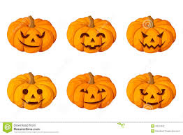 jack o lantern set of six halloween pumpkins royalty free stock
