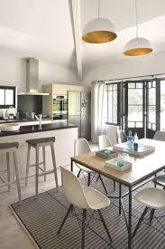 cuisine ouverte sur salle a manger deco cuisine ouverte sur salle a manger cool éclairage décorée deco