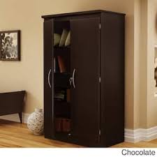 Wooden Storage Closet With Doors Armoires Wardrobe Closets For Less Overstock