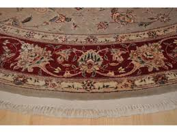 4 Foot Round Area Rugs by 7 U0027 X 7 U0027 Round Persian Rug Floral Made Out Of 100 Natural Silk