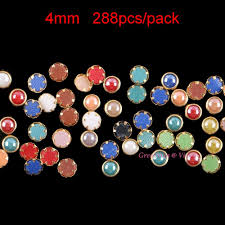 popular ivy round buy cheap ivy round lots from china ivy round 4mm mixed colored hotfix rhinestones round metallic gold rim dmc crystals diy hot fix ceramic crystal