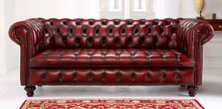 Chesterfield Style Sofa by English Chesterfields By Saracen Leather Furniture