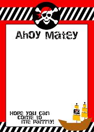 40th birthday ideas free printable pirate birthday invitation
