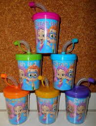 bubble guppies party favor cups personalized with name u0026 age