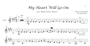 film titanic music download my heart will go on violin sheet music taylordavisviolin