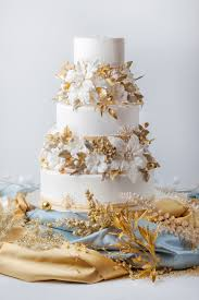 winter gold wedding cake from cakecentral magazine vol 3 issue 11