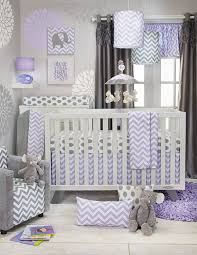 Gray And White Chevron Crib Bedding Sweet Potato Swizzle 3 Set Grey Purple White