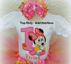 minnie mouse 1st birthday 1st birthday baby minnie mouse pink and orange ship