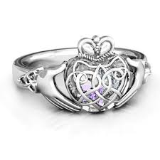 claddagh rings 10k white gold caged hearts celtic claddagh ring jewlr