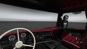 Interior Truck Scania Ets2 Red Interior For Scania