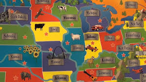 United States Map Puzzle Games by Interactive Usa Map From Cp Toys Youtube