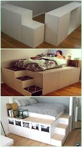 ikea bed diy ikea kitchen cabinet platform bed instructions diy space savvy