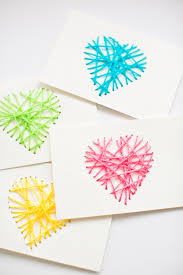 hello wonderful make string yarn cards