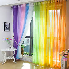 2017 95 214cm 15 colors colored curtains high quality