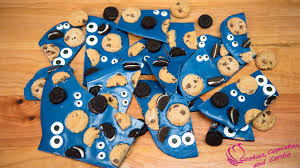 cookie monster fudge and cookie monster chocolate candy bark easy