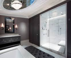zen bathroom design ideas home interior and exterior expansive trendy master bathroom photo chicago with undermount sink raised panel cabinets gray alcove shower white tile marble countertops