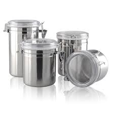 100 canisters kitchen 2017 wholesale silver round storage