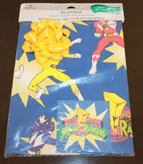 power rangers wrapping paper vintage mighty morphin power rangers gift wrap paper 1994