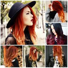 hair color ideas ombre from light to dark women medium haircut