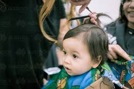 hair cuts for a mixed race boy image of one year old mixed race baby boy has his first haircut