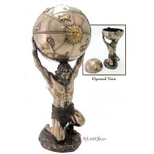 Greek God Statues by Greek God Atlas Statue With Globe Box Museum Replica Greek Gods