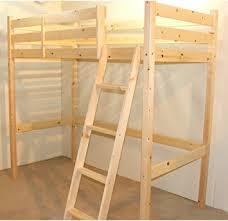 Loft Bunk Bed Ft Single Wooden High Sleeper Bunkbed Ladder - Single bed bunks