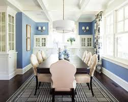 Navy Blue Dining Room Houzz - Navy and white dining room