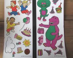 Barney Party Decorations Barney The Dinosaur Etsy