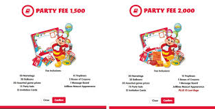 Mcdonalds Invitation Card Jollibee Kiddie Party How To Reserve Mrs Chubs Diary