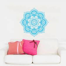 namaste home decor mandala wall decal namaste flower mandala indian lotus yoga wall