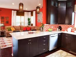 Orange Kitchens Extraordinary Kitchen Room Colors Delightful Cabinets Designs Pink