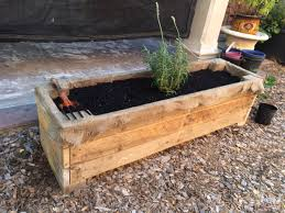 herb planter boxes my girlfriend and i made a herb planter box out of a pallet it