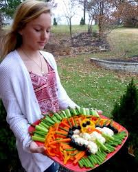 thanksgiving turkey vegetable platter a veggie venture
