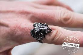 cool finger rings images Ram skull ring is a peculiar brutal jewelry jpg